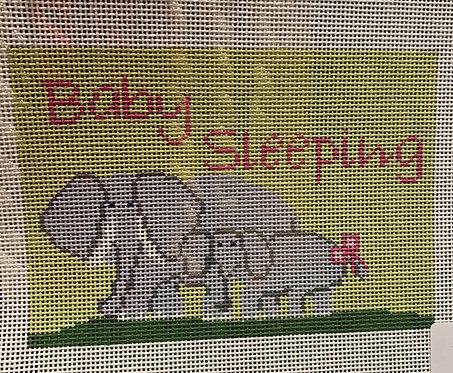 J Child Baby Sleeping with Elephants
