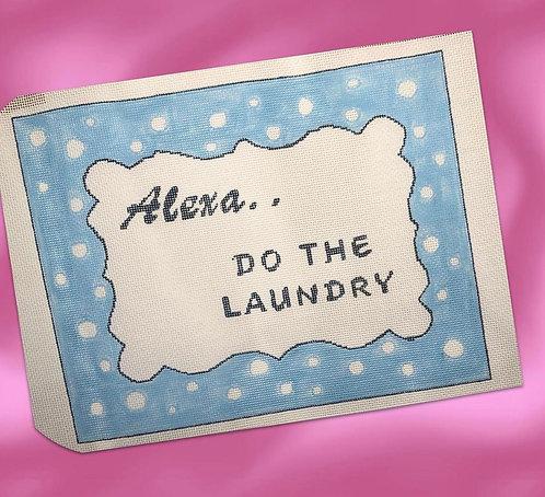 Judy Tasch Needlepoint Alexa Do the Laundry