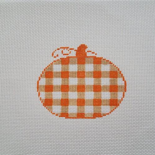 Silver Stitch Pumpkin, Small Orange/Light Orange