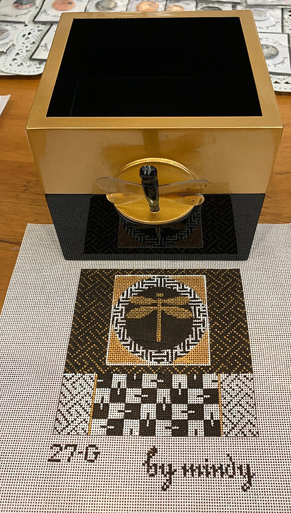 Mindy Gold Lacquer Box and Insert