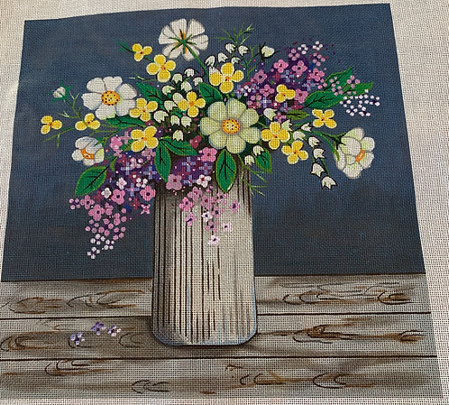 Alice Peterson SP51 tall vase of flowers