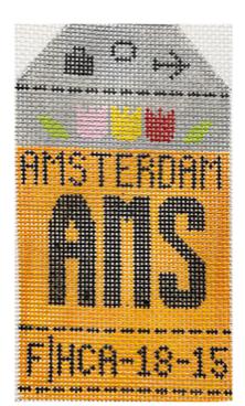 HedgeHog AMS Amsterdam Travel Tag