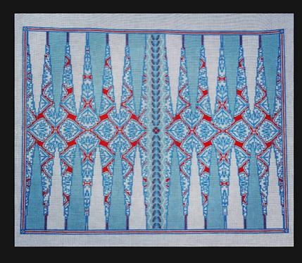 Anne Fisher Medallion Backgammon