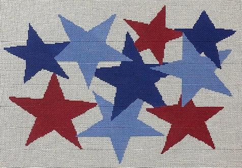 ASIT 363 Stars on White Background