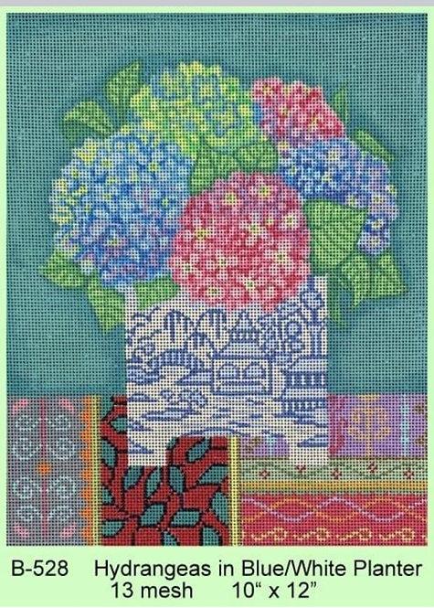 Brenda Stofft B-528 Hydrangeas 13 mesh
