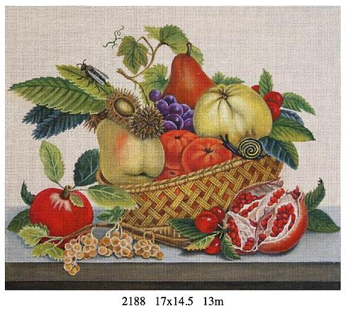 Melissa Shirley 2188 Pomegranate & Pear Basket
