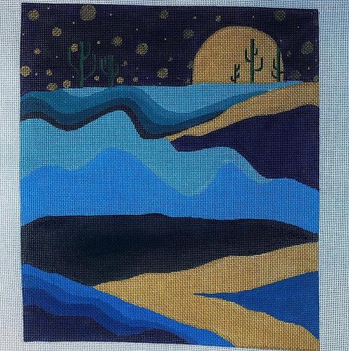 Oasis Needlepoint  Blue Landscape