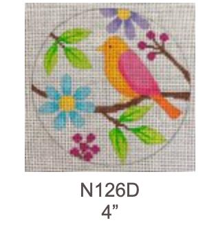 Eye Candy N126D Birds & Blooms Ornament