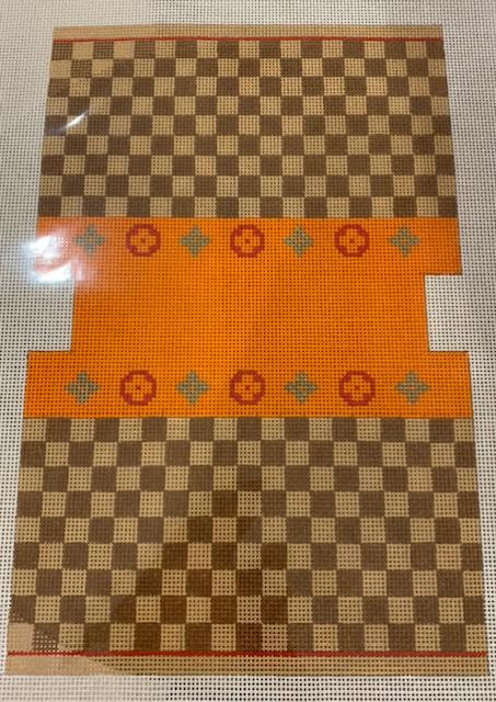 MB28A Louis Square Orange MB Small Double Sided Bag