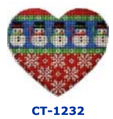 AT CT-1232 Snowman/Snowflakes  Heart