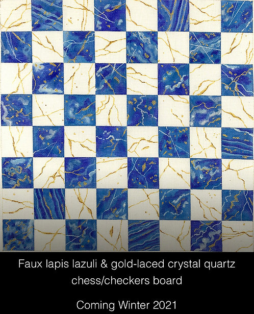 Kate Dickerson CHB-02 Faux Lapis Checkers Board
