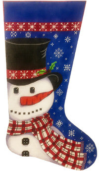 Alice Peterson 2960 Snowman in Scarf Stocking