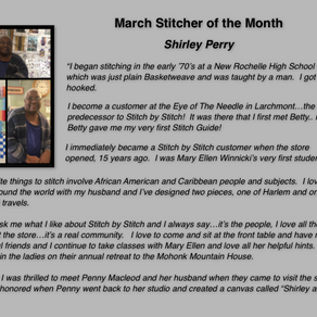 Our March Stitcher of the Month