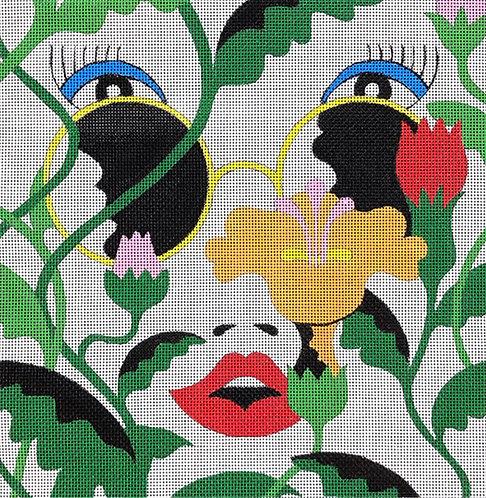 DJ Designs DL2038 Flower Face 13 mesh