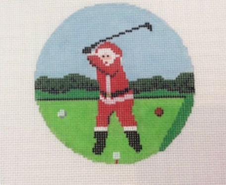 Ann Kaye Golfing Santa