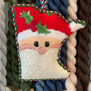 Mary H. Stitched this cute State Santa.