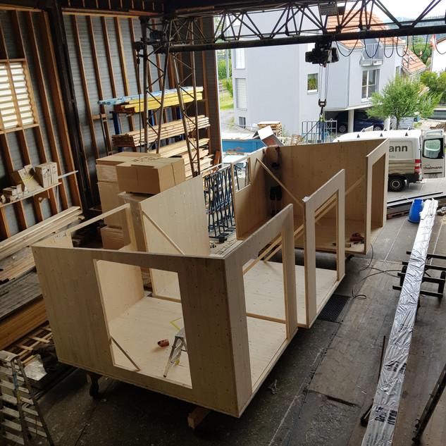 Herstellung Modulhaus