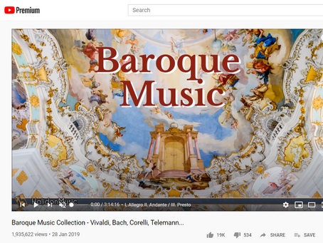 Best Writing Playlists - Part 5: Baroque