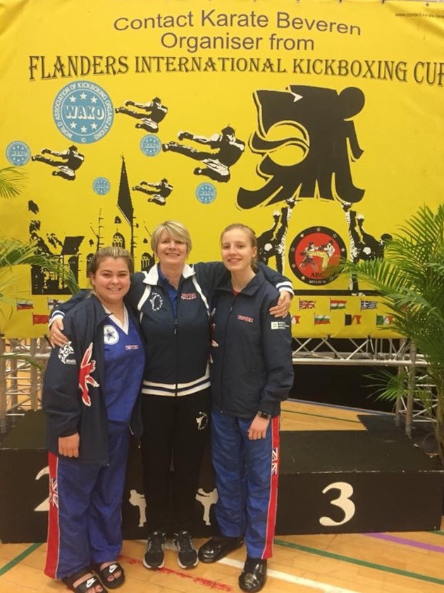 Four Medals at Flanders International Kickboxing Cup