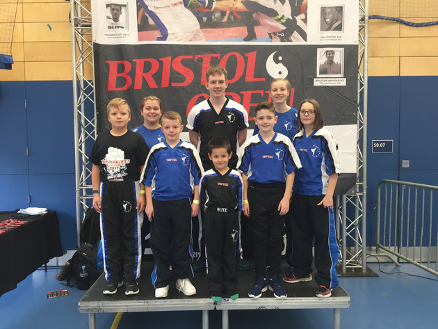 Gold and 2 Bronzes at the Bristol Open International for Evolution Kickboxers