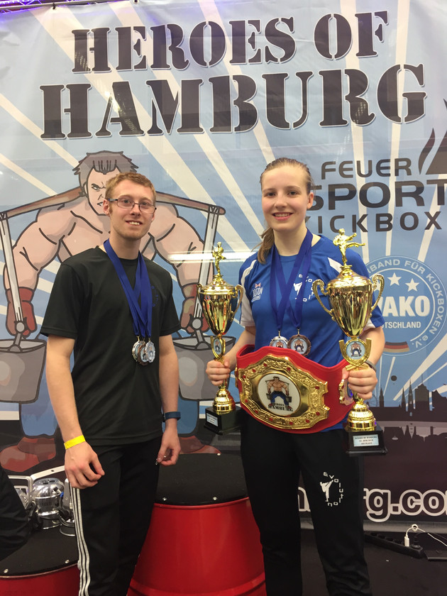 Evolution Fighters return from Hamburg with a Haul of Trophies