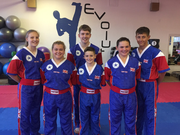 Six Young Kickboxers all set to represent Team GB
