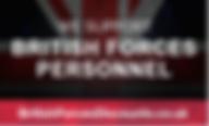 British Forces Personnel discounts pic