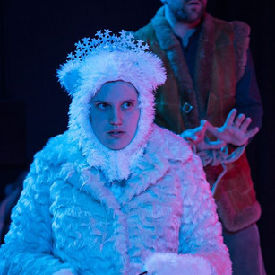 """Butterfly Psyche's """"The Snow Child"""". As the Ice Queen with Piers Wehner. Photography by Owen Benson"""