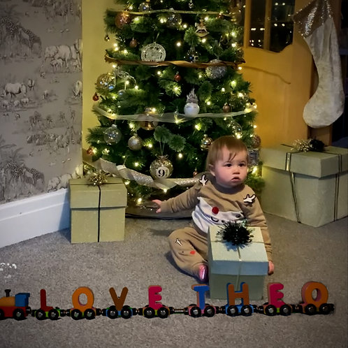 Package 1 - Festive Train Video - plus name animated