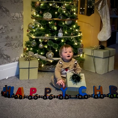 Package 2 - Festive Train Video - Happy Christmas only
