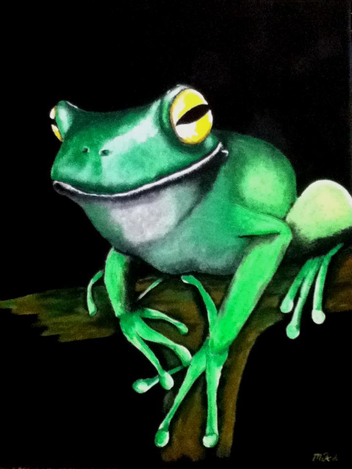 Tree Frog Smiling