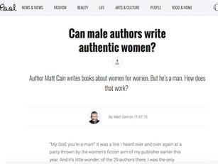 Matt Cain writes for The Pool about being a male author writing for women
