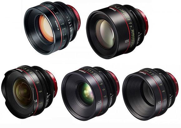 Kit ottiche Canon Cn N.6 ottiche (14-24-35-50-85-135)