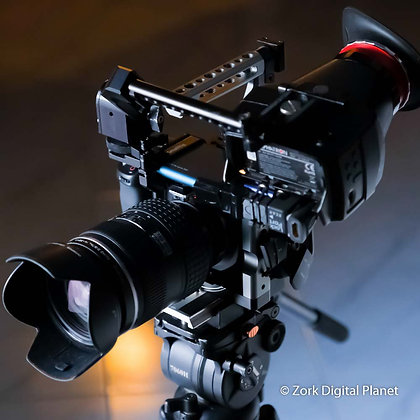 Blackmagic Pocket CC 4K in Kit con ottica Olympus 14/35 F2 + HD  e Oculare