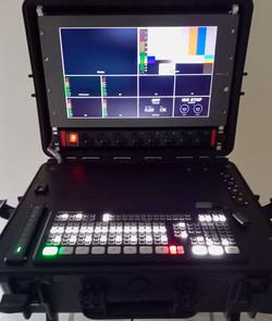 Blackmagic Atem Extreme iso + convertitori + monitor + registratore su ssd