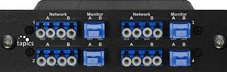 TAP, optique, 4 liens, connectique LC,1,10,Giga,Gbps