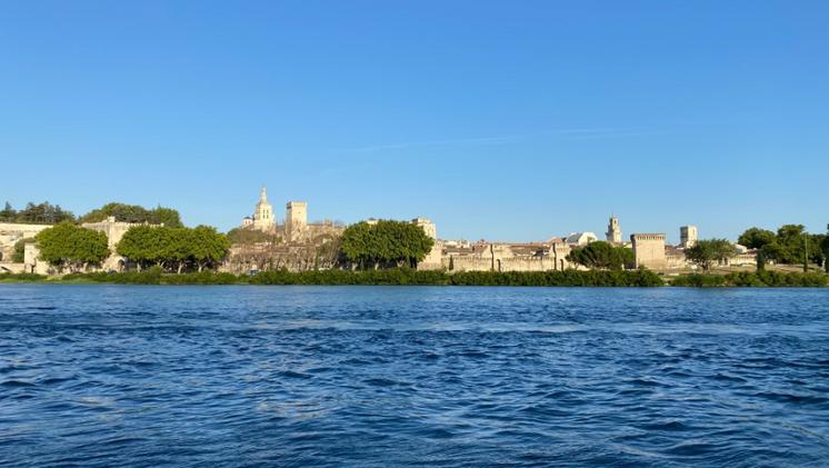 Avignon depuis la Barthelasse