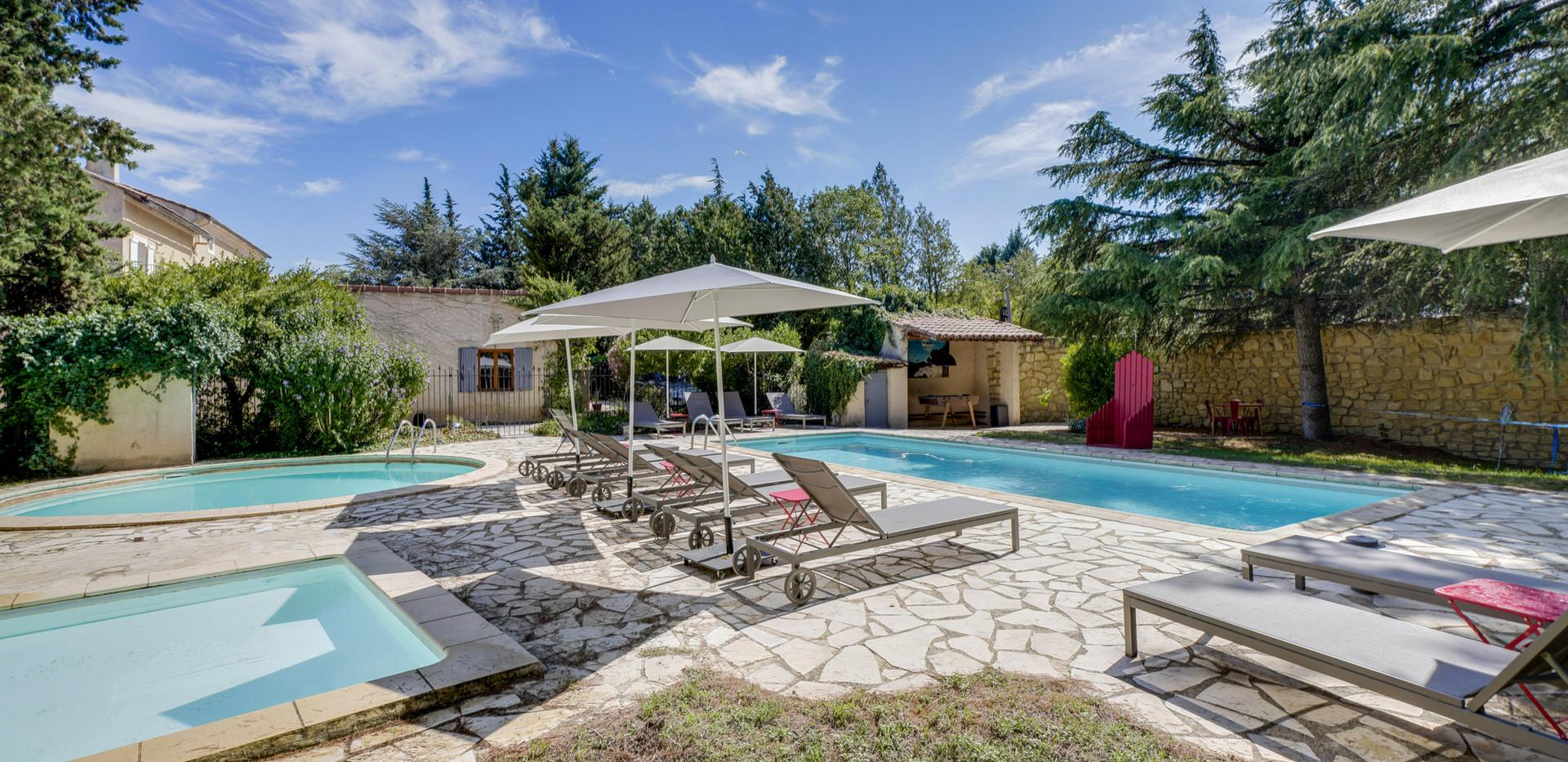 Mas Saint-Gens swimming pools, Provence area
