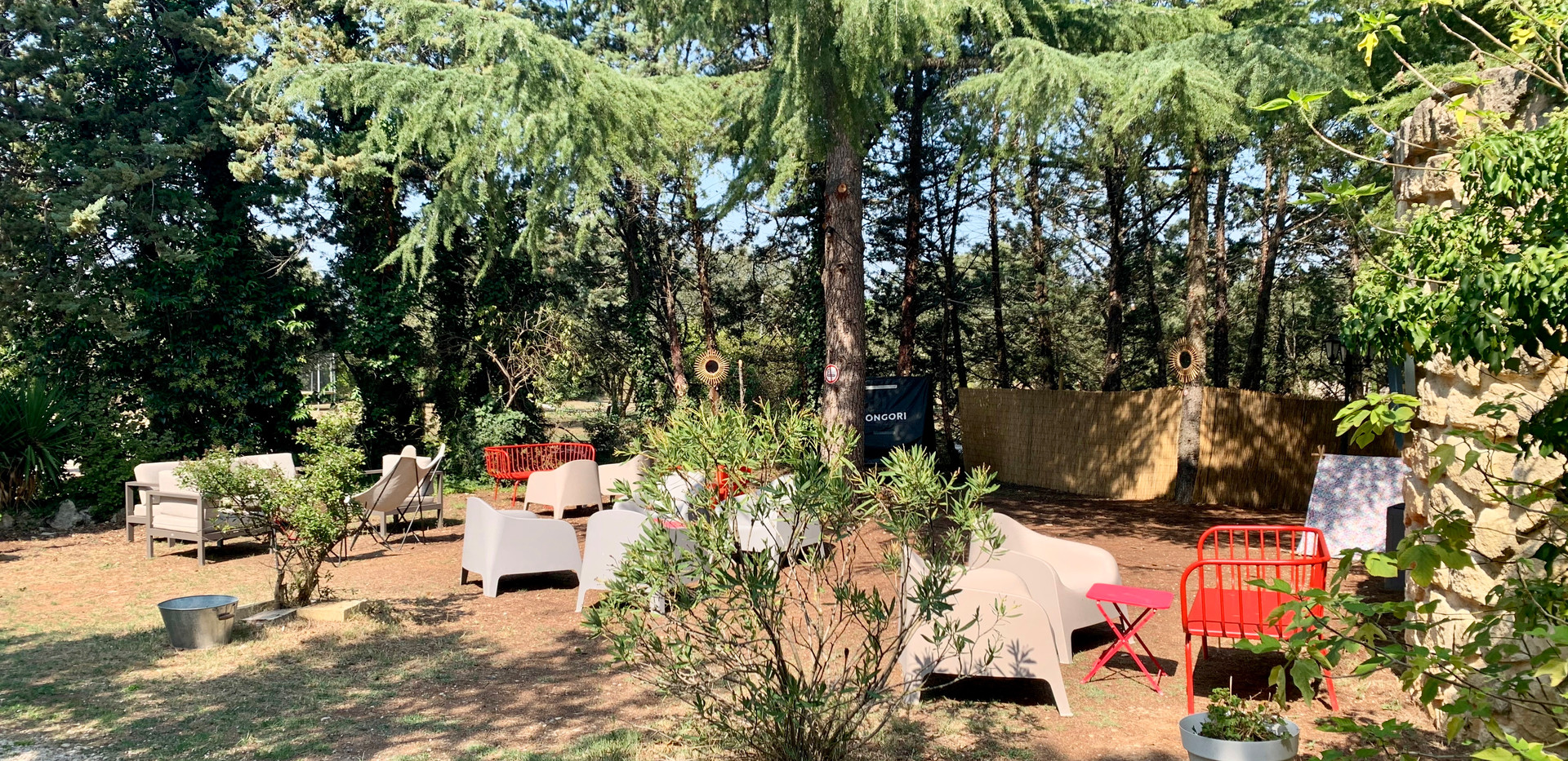 Mas Saint-Gens lounge area, South of France