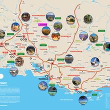 Carte tourisme Provence