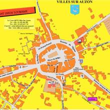 Plan du centre-ville Villes-sur-Auzon