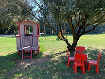 Park & children games at Mas Saint-Gens, family cottage to rent in Provence Luberon Ventoux