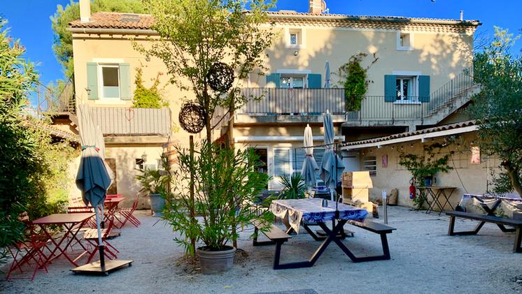 The Mas patio side at Mas Saint-Gens