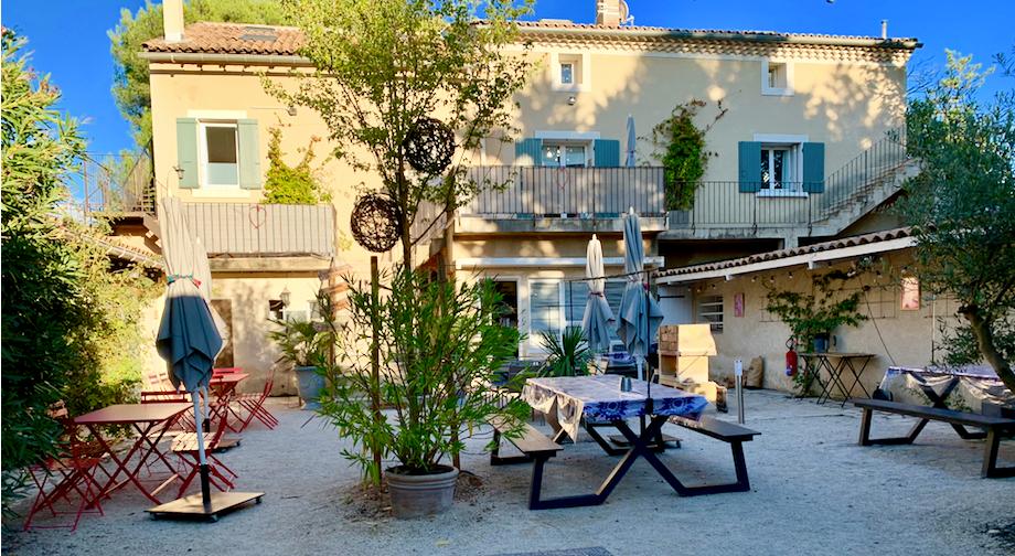 The Mas patio side, Mas Saint-Gens