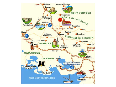 Grand gite Provence carte Vaucluse
