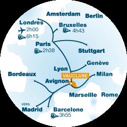 Localisation du vaucluse en Europe