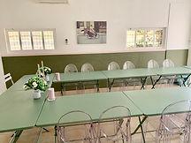 Salle de réunion du Mas Saint-gens, grand gite Provence Carpentras