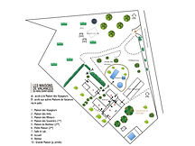 Estate map, Mas Saint-gens, holiday place in Provence Carpentras