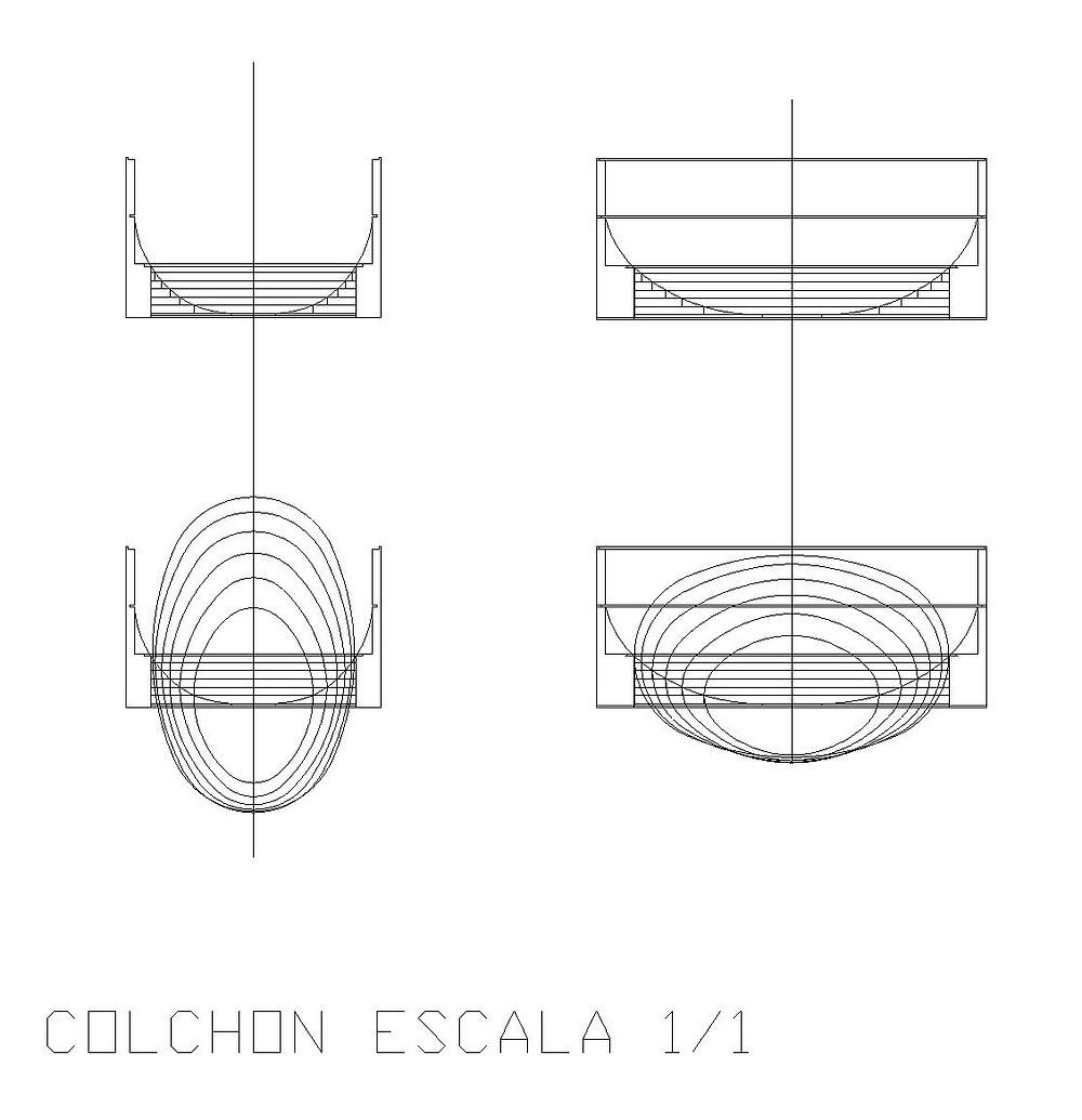 Planos de corte del Colchon