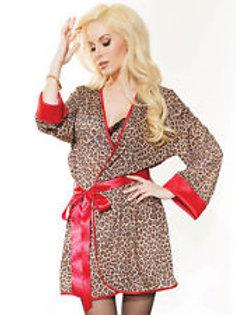Coquette Leopard Robe